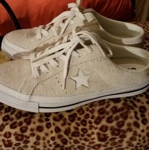 Converse One Star Mule 7.5 white suede